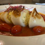 rilled Stuffed Squid With Ricotta On A Spicy Tomato Salsa With Chorizo