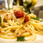 Spicy Spaghetti With Crab Cherry Tomato